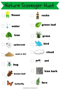 nature hunt printable